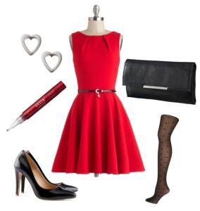 putfito vestito rosso
